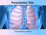 Human Lungs Medical PowerPoint Template