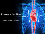 Heart With Lines Medical PowerPoint Template