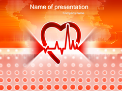 Healthy beats of heart Medical PowerPoint Template