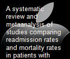 A systematic review and metaanalysis of studies comparing readmission rates and mortality rates in patients with heart failure powerpoint presentation