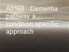 A0168   Dementia pathway a condition specific approach powerpoint presentation
