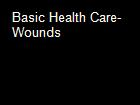 Basic Health Care-Wounds powerpoint presentation