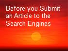 Before you Submit an Article to the Search Engines powerpoint presentation
