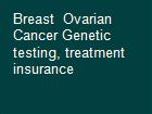 Breast  Ovarian Cancer Genetic testing, treatment  insurance  powerpoint presentation