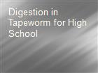 Digestion in Tapeworm for High School  powerpoint presentation