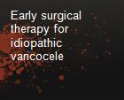 Early surgical therapy for idiopathic varicocele powerpoint presentation