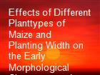 Effects of Different Planttypes of Maize and Planting Width on the Early Morphological Characters and Yield of Relaycropping Soybean  powerpoint presentation