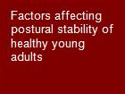 Factors affecting postural stability of healthy young adults powerpoint presentation