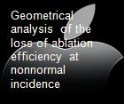 Geometrical analysis  of the loss of ablation efficiency  at nonnormal incidence powerpoint presentation