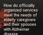 How do officially organized services meet the needs of elderly caregivers and their spouses with Alzheimer disease powerpoint presentation