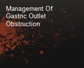 Management Of Gastric Outlet Obstruction powerpoint presentation