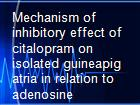Mechanism of inhibitory effect of citalopram on isolated guineapig atria in relation to adenosine receptor powerpoint presentation