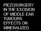 PIEZOSURGERY IN THE EXCISION OF MIDDLE EAR TUMOURS EFFECTS ON MINERALIZED AND NO MINERALIZED TISSUES.  powerpoint presentation