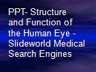 PPT- Structure and Function of the Human Eye - Slideworld Medical Search Engines powerpoint presentation