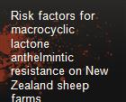 Risk factors for macrocyclic lactone anthelmintic resistance on New Zealand sheep farms powerpoint presentation