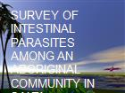 SURVEY OF INTESTINAL  PARASITES AMONG AN ABORIGINAL COMMUNITY IN SALTA powerpoint presentation
