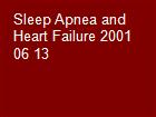 Sleep Apnea and Heart Failure 2001 06 13 powerpoint presentation