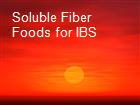 Soluble Fiber Foods for IBS powerpoint presentation