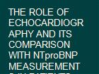 THE ROLE OF ECHOCARDIOGRAPHY AND ITS COMPARISON WITH NTproBNP MEASUREMENTS IN PATIENTS WITH ACUTE MYOCARDIAL INFARCTION powerpoint presentation