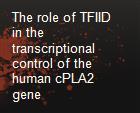 The role of TFIID in the transcriptional control of the human cPLA2 gene powerpoint presentation