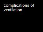 complications of ventilation powerpoint presentation