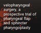 velopharyngeal surgery, a prospective trial of pharyngeal flap and sphincter pharyngoplasty powerpoint presentation