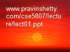 www.pravinshetty.com/cse5807/lecture/lect01.ppt powerpoint presentation